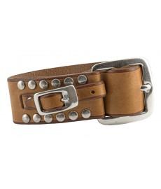 Numero3 Herrenarmband mit Nieten in Braun